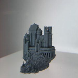 Pièce (château) réalisée, en SLA, en impressions 3D par notre équipe SMART 3D