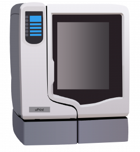 Machine HP designjet et Uprint, de notre parc SMART 3D, afin de réaliser des pièces en FDM (dépôt de fil fondu), en impressions 3D